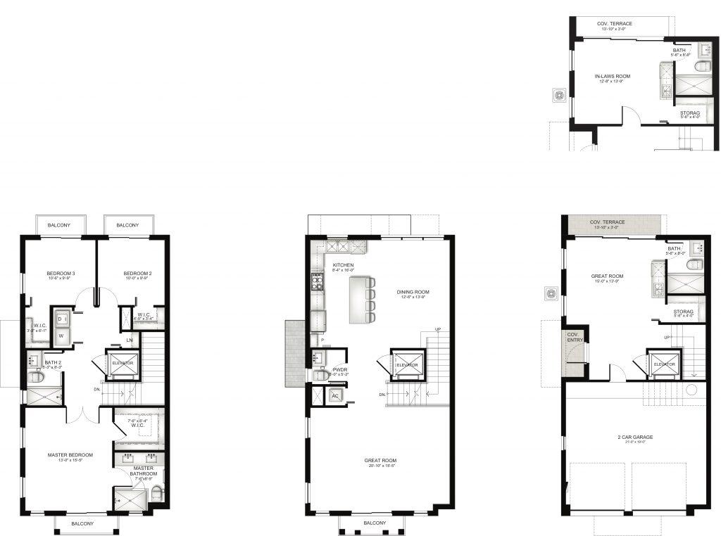 Townhome Unit D Floorplan