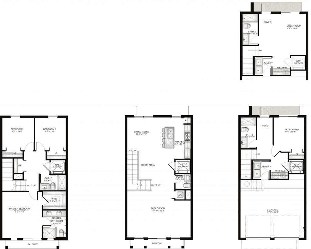 Townhome Unit E Floorplan