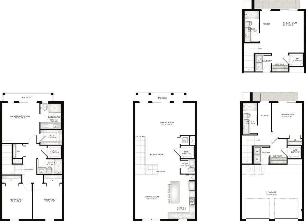 Townhome Unit F Floorplan