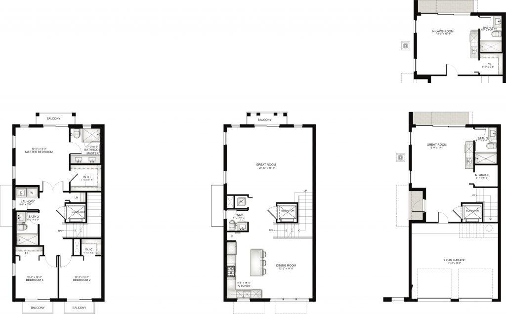 Townhome Unit G Floorplan