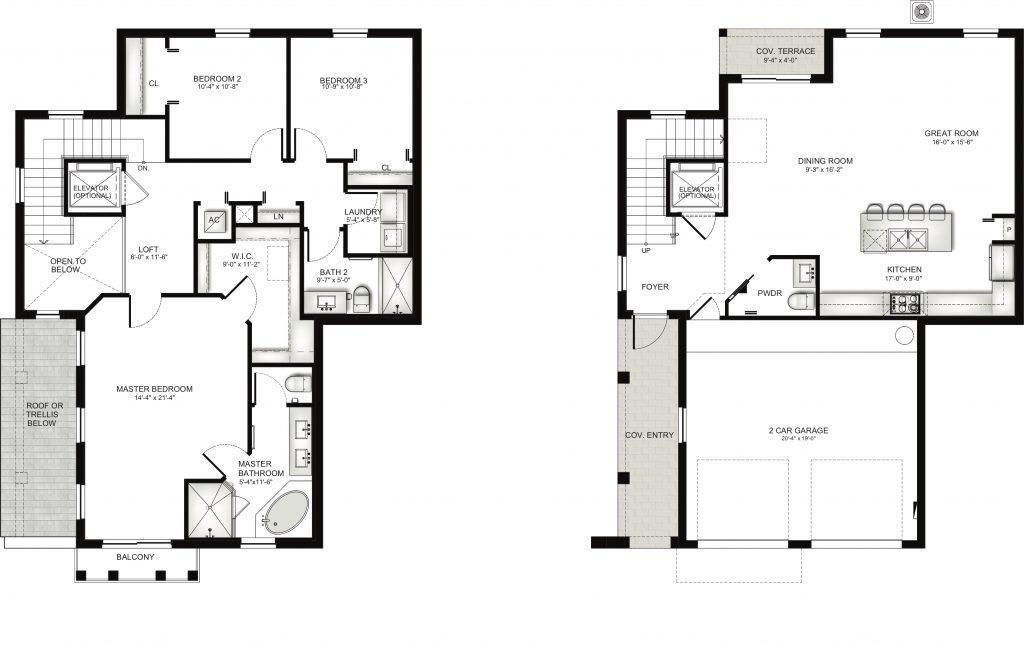 Townhome Unit C Floorplan