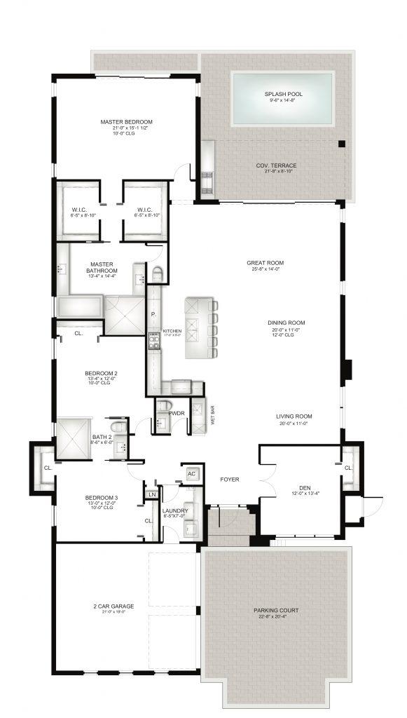 Villa Unit A Floorplan