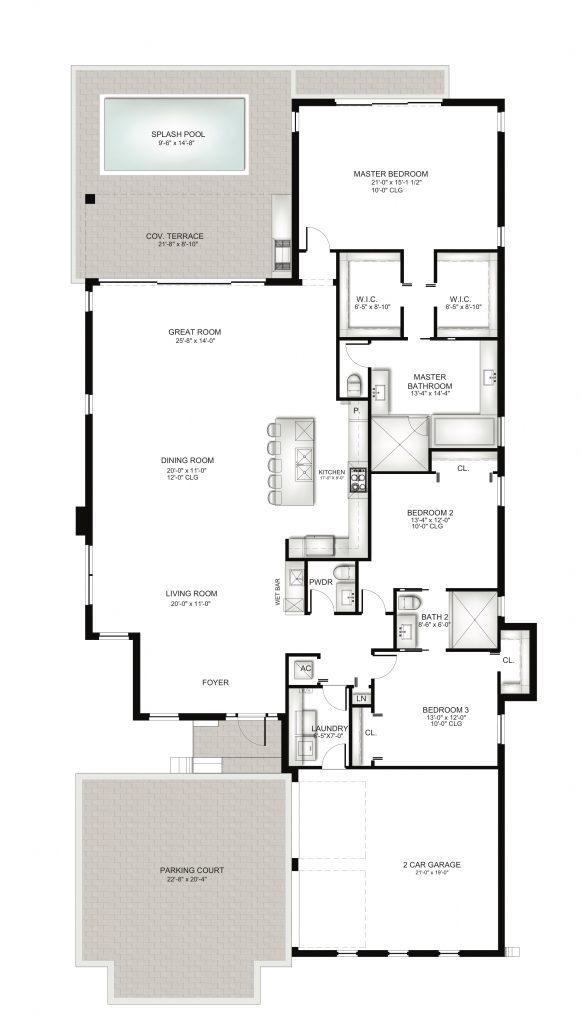 Villa Unit B Floorplan